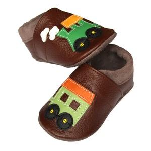 Hopphopp puhatalpú cipő - Vonatos/barna, Táska, Divat & Szépség, Cipő, papucs, Ruha, divat, Gyerekruha, Baba (0-1év), Gyerek (1-10 év), Bőrművesség, Varrás, A cipők természetes, puha, minőségi bőrből készülnek, melyek ideálisak a járni tanuló babáknak, vagy..., Meska
