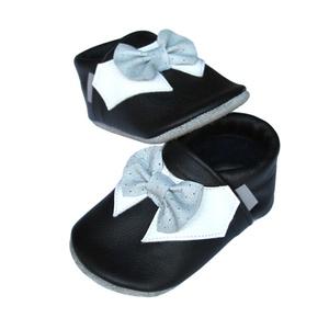 Új!!! Hopphopp puhatalpú cipő - Csokornyakkendős/Alkalmi-fekete (Hopphopp) - Meska.hu