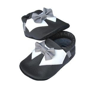 Új!!! Hopphopp puhatalpú cipő - Csokornyakkendős/Alkalmi-sötétszürke (Hopphopp) - Meska.hu