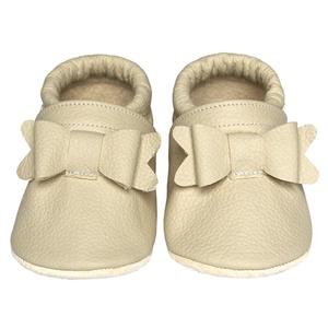 Új!!! Hopphopp puhatalpú cipő - Masnis/bézs, Táska, Divat & Szépség, Cipő, papucs, Ruha, divat, Gyerekruha, Baba (0-1év), Gyerek (1-10 év), A cipők természetes, puha, minőségi bőrből készülnek, melyek ideálisak a járni tanuló babáknak, vagy..., Meska