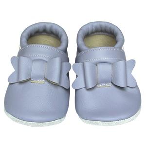Új!!! Hopphopp puhatalpú cipő - Masnis/levendula, Táska, Divat & Szépség, Cipő, papucs, Ruha, divat, Gyerekruha, Baba (0-1év), Gyerek (1-10 év), A cipők természetes, puha, minőségi bőrből készülnek, melyek ideálisak a járni tanuló babáknak, vagy..., Meska