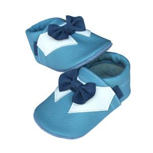 Új!!! Hopphopp puhatalpú cipő - Csokornyakkendős/Alkalmi-világoskék (Hopphopp) - Meska.hu