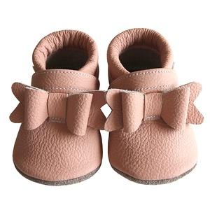 Új! Hopphopp puhatalpú cipő - Masnis/rózsaszín, Ruha & Divat, Cipő & Papucs, Cipő, szandál, Bőrművesség, Varrás, A cipők természetes, puha, minőségi bőrből készülnek, melyek ideálisak a járni tanuló babáknak, vag..., Meska