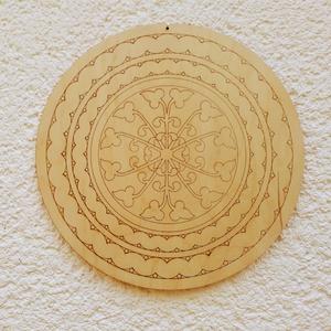 Mandala - itáliai - festhető fa -  előrajzolt mintával, Otthon & lakás, Dekoráció, Festészet, Fess, meditálj, pihenj és dekorálj mandalával!\nA képen látható mandalát azoknak ajánlom, akik szíves..., Meska