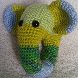 Horgolt elefántos csörgő (HorgoloZoo) - Meska.hu
