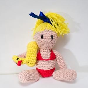 Úszógumis kislány, Gyerek & játék, Játék, Baba játék, Játékfigura, Baba, babaház, Horgolás, Amigurumi horgolástechnikával elkészítem akár egy kép, vázlat alapján kedvenc játék, szuperhős, vagy..., Meska