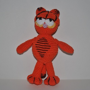 Garfield, Gyerek & játék, Játék, Játékfigura, Horgolás, Garfield\nÁlló\n\nPamut fonal + PE töltet\n\nkb. 22cm, Meska