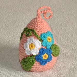 Húsvéti tojás (1db), Otthon & lakás, Dekoráció, Dísz, Horgolás, Húsvéti tojás (1db)\ndarabár\nkb. 8cm magas\ntöbb színben és mintával, Meska