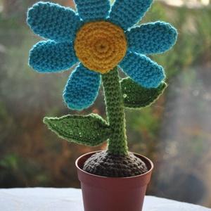 Cserepes virág, Otthon & lakás, Dekoráció, Dísz, Horgolás, Cserepes virág\nkb. 20cm magas\ntetszőleges színben rendelhető\nműanyag cserépben\nKivehető és átültethe..., Meska