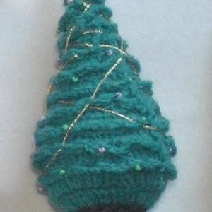 Karácsonyfa, Karácsony & Mikulás, Karácsonyfadísz, Horgolás, Karácsonyfa\nkb 20cm magas\n, Meska