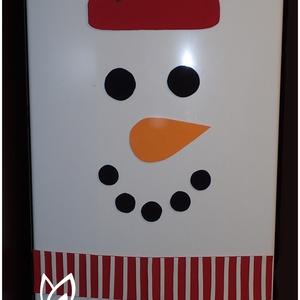 Hűtő hóember, Mikulás, Karácsony & Mikulás, Otthon & Lakás, Mindenmás, Ha Te is szereted ünnepi díszbe öltöztetni lakásod minden pontját, akkor erre a hűtőre tehető hóembe..., Meska