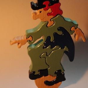 egyensúlyozó cirkuszi bohóc, kirakó játék, Játék & Gyerek, Társasjáték & Puzzle, Famegmunkálás, Fejleszti a gyermek egyensúly érzékelését és mellesleg kitűnő polcdísz is egyben., Meska