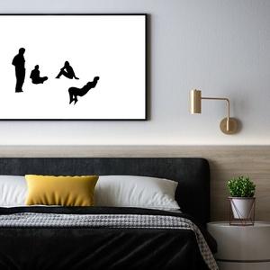 Fotó 19. -  fotogram, fekete-fehér figurális kép, giclée nyomat - A tisztaszoba inverze/részlet/ , Otthon & Lakás, Dekoráció, Kép & Falikép, Fotó, grafika, rajz, illusztráció, Újrahasznosított alapanyagból készült termékek, A kötődés a régi fotókhoz, emlékekhez egy közös kapocs lehet mindannyiunk között. \nEzeket újragondol..., Meska