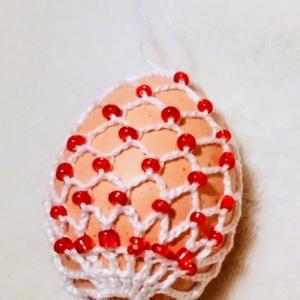 Horgolt húsvéti tojás , Otthon & Lakás, Dekoráció, Dísztárgy, Horgolás, Horgolt húsvéti tojás. A horgolt mintát kifújt tyúktojásra horgoltuk. Méretük :*6-7 cm. Áruk: 600 Ft..., Meska