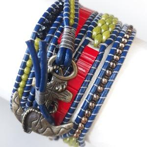 Wrap karkötő - 5 soros wrap  - színes - tekergesd ! (hoyacarnosa) - Meska.hu