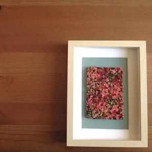 Rózsaszín virágtenger - 3D kép süthető gyurmából (M) (HReka23) - Meska.hu