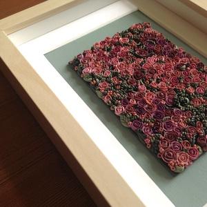 Lila virágtenger - 3D kép süthető gyurmából (M) (HReka23) - Meska.hu