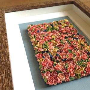 Tarka virágtenger - 3D kép süthető gyurmából (M) (HReka23) - Meska.hu
