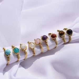 Ásvány gyöngyös gyűrűk széles választékban, Ékszer, Gyűrű, Gyöngyös gyűrű, Ékszerkészítés, Ásvány gyöngyös gyűrűk széles választékban.\n9 féle ásvány gyöngyből tudsz választani rendeléskor és ..., Meska