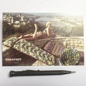 """Budapest \""""air bnb\"""" képeslap, Művészet, Fotográfia, Fotó, grafika, rajz, illusztráció, > 1969-es gumimatrac reklámfotók \n> Egy kis budapesti nyomdában készült hagyományos technikával\n> A ..., Meska"""