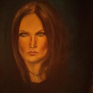 Tarja Turunen portré / Nightwish, Művészet, Festmény, Pasztell, Festészet, 50x40-es porpasztel kép ,fixatíval rögzítve.\nBizonyára aki ismeri szereti a hölgyet , a hangjáért és..., Meska