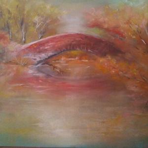 őszi csend, Művészet, Festmény, Pasztell, Festészet, 30x40-es porpasztel kép ,fixatív lakkal rögzítve.\nKellemes őszie színekel ,egy romantikus nyugott ha..., Meska