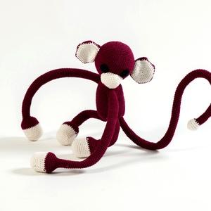 Függönyelkötő majom, Dekoráció, Otthon & lakás, Lakberendezés, Lakástextil, Függöny, Baba-és bábkészítés, Horgolás, Függönyelkötő majmocskámnak gyakorlatilag minden porcikája flexibis, így mindenhova fel lehet csípte..., Meska