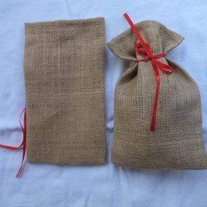 Mikulás zsák, Mikulás, Karácsony & Mikulás, Otthon & Lakás, Varrás, Zsák vászon anyagból készült zsákok ! Mérete : 26 cm magas és 15 cm széles ! Ha több darabot szeretn..., Meska