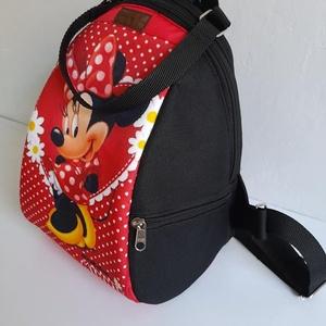 Minnie egeres hátizsák, Táska & Tok, Hátizsák, Hátizsák, Varrás, Ezt a Minnie egeres hátizsákot a piros-fekete szín rajongóknak ajánlom. Közepes méretű, jó tartású p..., Meska