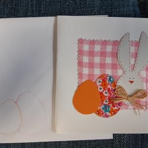 Húsvéti képeslap rózsaszín kockás, Otthon & Lakás, Papír írószer, Képeslap & Levélpapír, Varrás, Mindenmás, Húsvéti képeslap rózsaszín kockás\n\nKézzel készült húsvéti képeslapok, papírból hajtott borítékkal.\nK..., Meska