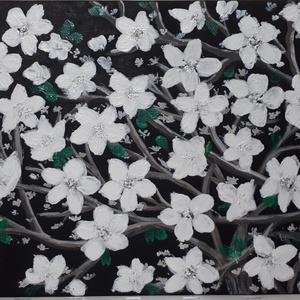 Jégvirág, Otthon & lakás, Képzőművészet, Festmény, Akril, Festészet, 18x24 cm-es farostlemezre készített akril festmény. Keretezést nem igényel., Meska