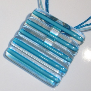 Női vonalak türkiz kék üvegékszer szett (Ildeko) - Meska.hu