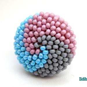 Spirálos 3 színű kerek gyűrű XXIII. (Ildibuildi) - Meska.hu