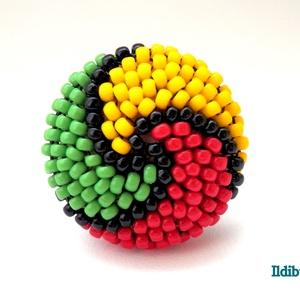 Spirálos színű kerek gyűrű - Amikor a reggae szól (Ildibuildi) - Meska.hu