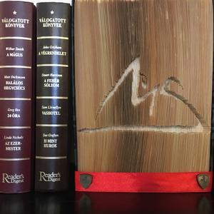 """Egyedi Logós vágott-hajtogatott könyv, könyvszobor születésnapra, névnapra, karácsonyra- Rendelésre , Könyvszobor, Dekoráció, Otthon & Lakás, Nászajándék, Emlék & Ajándék, Esküvő, Papírművészet, Újrahasznosított alapanyagból készült termékek, Egyedi készítésű hajtogatott könyv vagy könyvszobor \""""Egyedi logós\"""" születésnapra, névnapra, karácson..., Meska"""