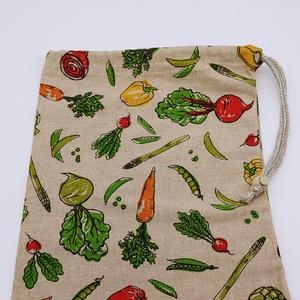 Zöldséges öko, vászonzsák , NoWaste, Bevásárló zsákok, zacskók , Textilek, Textil tároló, Otthon & lakás, Konyhafelszerelés, Varrás, Környezetbarát, többször használható zöldség, gyümölcs tartó vászonzsák.\n\nSzükség esetén 30 fokon mo..., Meska