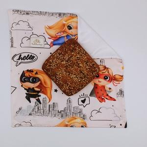 Környezetbarát, élelmiszerbiztos szendvics csomagoló, Újraszalvéta, Szendvics csomagoló, Uzsonna- & Ebéd tartó, Táska & Tok, Varrás, Környezetbarát, többször használható szendvics, uzsi csomagoló.\nKönnyedén tisztítható, belső PUL rét..., Meska