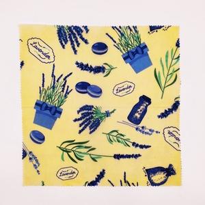 Méhviaszos csomagoló kendő, Táska & Tok, Uzsonna- & Ebéd tartó, Szendvics csomagoló, Mindenmás, Környezetbarát méhviaszos csomagoló frissentartja az ételt, kitűnő helyettesítője a folpacknak, aluf..., Meska