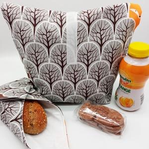 Uzsonnás táska újraszalvétával - Lunch bag - Zero waste  - Meska.hu