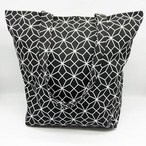 Bevásárló táska, SHOPPER, Táska & Tok, Bevásárlás & Shopper táska, Shopper, textiltáska, szatyor, Varrás, Bevásárló táska, shopper, vastag vászon anyagból, pamuttal bélelt, belső zsebbel ellátott.\n\nMérete:\n..., Meska