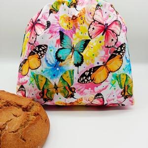 Frissentartó kenyeres zsák - közepes méret, Táska & Tok, Bevásárlás & Shopper táska, Kenyeres zsák, Varrás, Környezetbarát, újrahasználható kenyér, zsemle, kifli tároló. Frissen tartja a pékárukat.\nKönnyedén ..., Meska