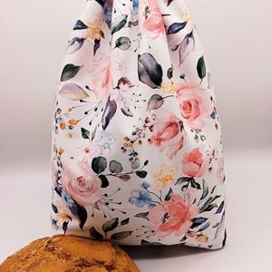 Frissentartó kenyeres zsák - nagy méret, Táska & Tok, Bevásárlás & Shopper táska, Kenyeres zsák, Varrás, Környezetbarát, többször használható kenyér, zsemle, kifli tároló. Frissen tartja a pékárukat.\nKönny..., Meska