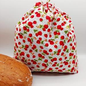 Frissentartó kenyeres zsák, Táska & Tok, Bevásárlás & Shopper táska, Kenyeres zsák, Varrás, Környezetbarát, többször használható kenyér, zsemle, kifli tároló. Frissen tartja a pékárukat.\nKönny..., Meska