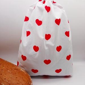 Frissentartó kenyeres zsák - nagy méret, Táska & Tok, Bevásárlás & Shopper táska, Kenyeres zsák, Varrás, Környezetbarát, újrahasználható kenyér, zsemle, kifli tároló. Frissen tartja a pékárukat.\nKönnyedén ..., Meska