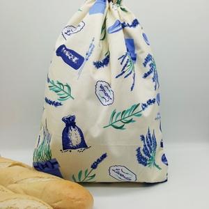 Frissentartó kenyeres zsák - nagy méret, Táska & Tok, Bevásárlás & Shopper táska, Kenyeres zsák, Varrás, Környezetbarát, újra használható kenyér, zsemle, kifli tároló. Frissen tartja a pékárukat.\nKönnyedén..., Meska