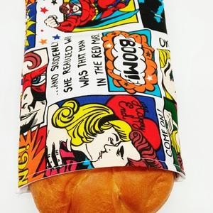 Snackbag - szendvics, nasi tartó, Táska & Tok, Uzsonna- & Ebéd tartó, Szendvics csomagoló, Varrás, Környezetbarát, többször használható szendvics, uzsi tartó.\nKönnyedén tisztítható, belső PUL réteget..., Meska