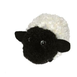 Fehér - fekete pompon bárány - AKCIÓ, Dekoráció, Otthon & lakás, Lakberendezés, Húsvéti díszek, Ünnepi dekoráció, Mindenmás, Saját tervezésű és készítésű fehér-fekete pompon bárányka.\n\nA bari feje, teste fehér és fekete fonal..., Meska