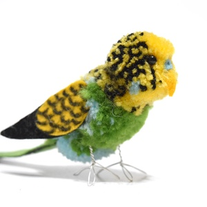 Hullámos papagáj - zöld - Meska.hu