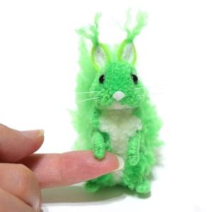Fény mókus - neon zöld - Meska.hu