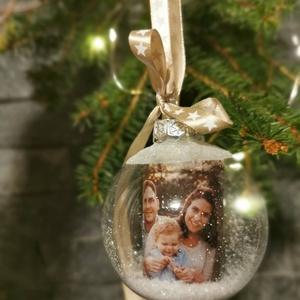 Egyedi fotóval karácsonyi üveggömb dísz  - Meska.hu